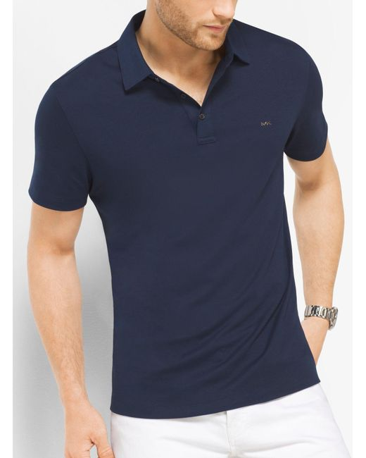 Michael Kors | Blue Cotton Polo Shirt for Men | Lyst