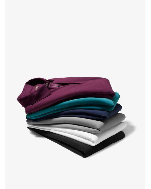 Michael Kors | Blue Cotton Polo Shirt for Men | Lyst