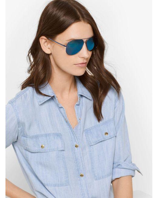 Michael Kors | Blue Adrianna I Sunglasses | Lyst