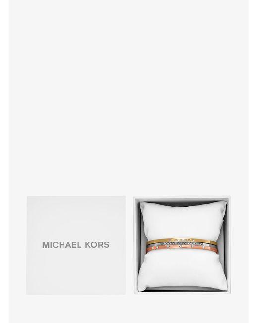Michael Kors   Multicolor Tri-stack Bangle Set   Lyst