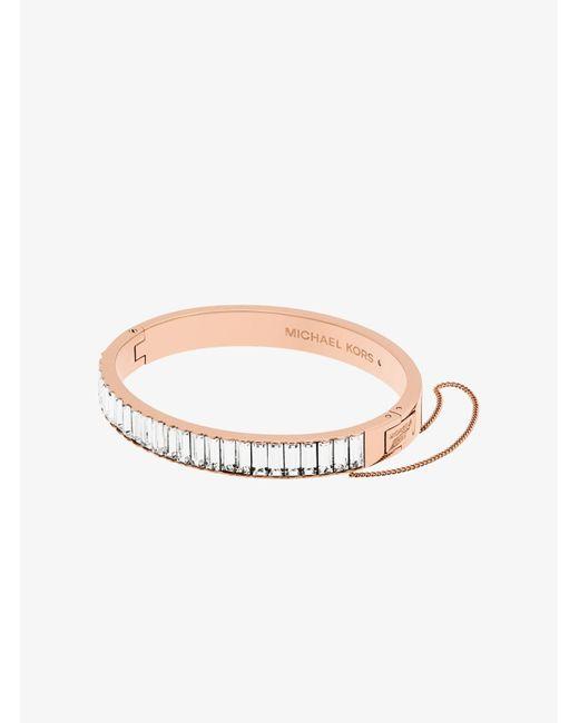 Michael Kors | Multicolor Rose Gold-tone Baguette Bracelet | Lyst