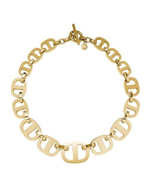 Michael Kors - Metallic Maritime Link Gold-tone Necklace - Lyst