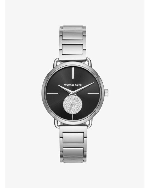 Michael Kors - Metallic Portia Silver-tone Watch - Lyst