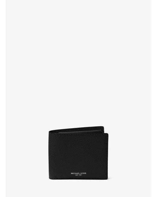 Michael Kors - Black Harrison Leather Billfold Wallet for Men - Lyst
