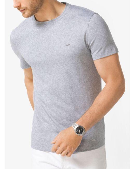 Michael Kors | Gray Cotton Crewneck T-shirt for Men | Lyst