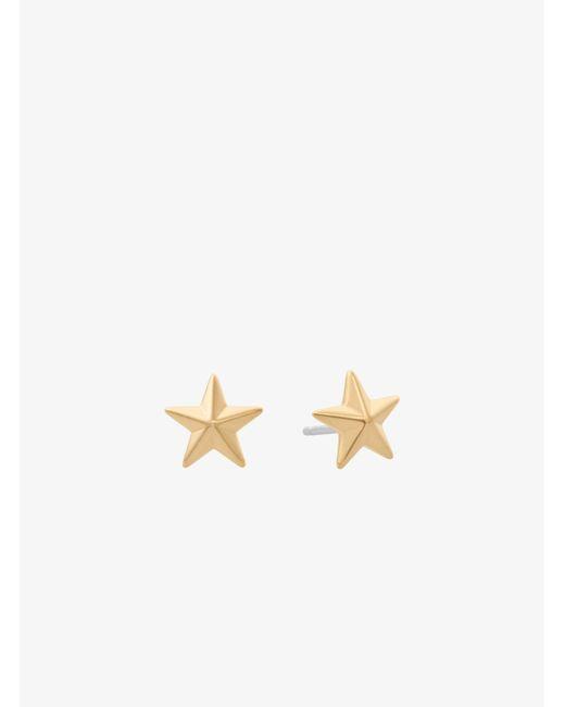 Michael Kors - Metallic Gold-tone Star Stud Earrings - Lyst