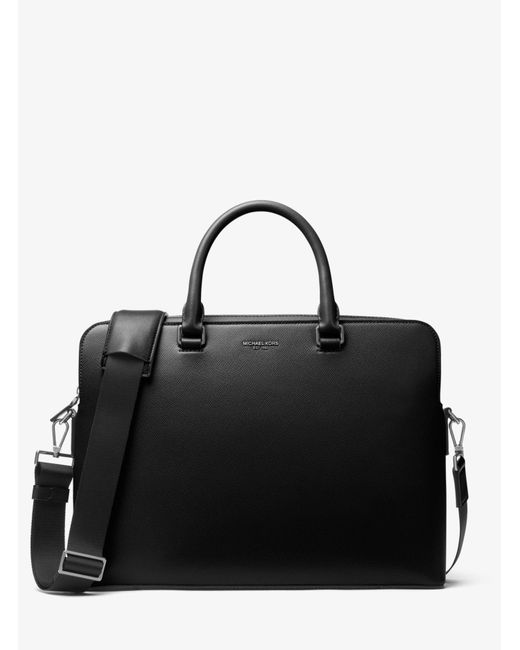 Michael Kors - Black Harrison Leather Briefcase for Men - Lyst