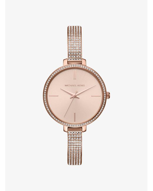 333046ca3661 Michael Kors - Multicolor Jaryn Pave Rose Gold-tone Watch - Lyst ...