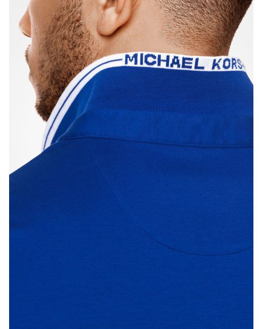 Michael Kors | Blue Greenwich Cotton Polo Shirt for Men | Lyst
