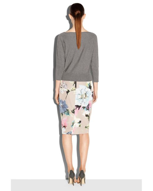 MILLY | Gray Dolman Sleeve Pullover | Lyst