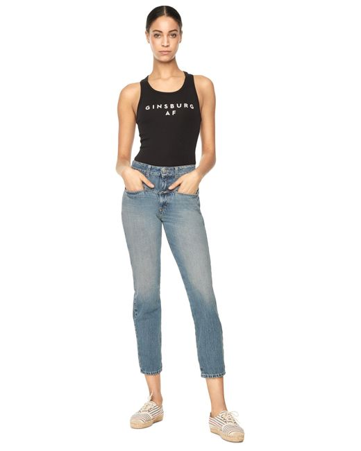 MILLY   Blue High Waisted Pedal Pusher   Lyst