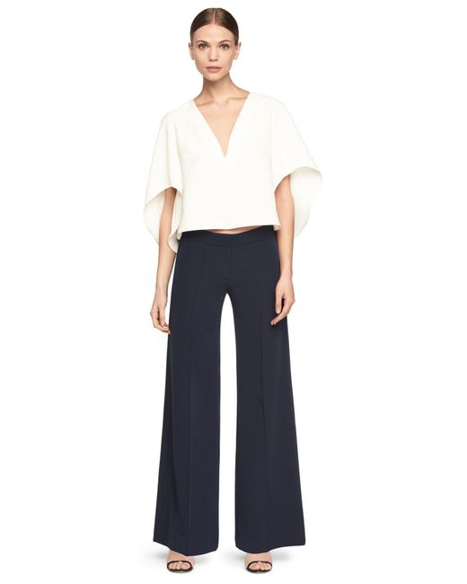 MILLY | Blue Italian Cady Low Rise Flare Pant | Lyst