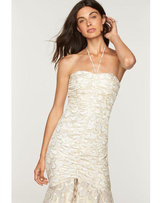 MILLY - Multicolor Silk Lurex Chiffon Tara Dress - Lyst