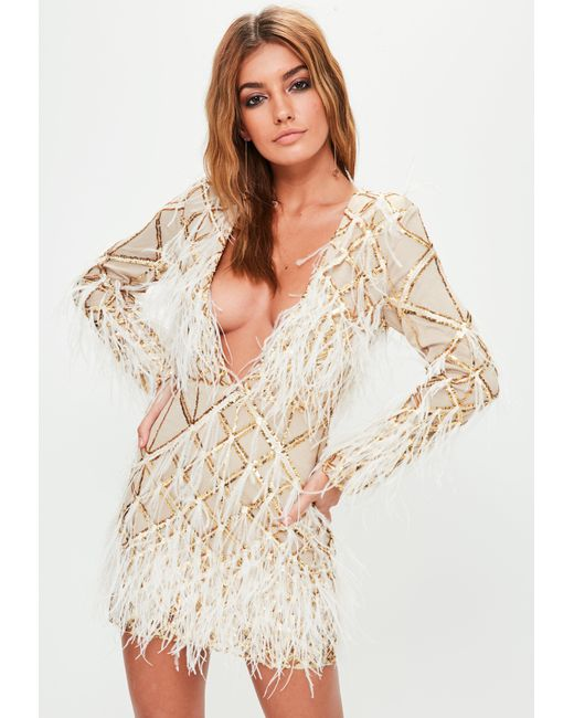 Missguided - Metallic Do Not Enable Yet - See Email - Gold Embellished Dress - Lyst