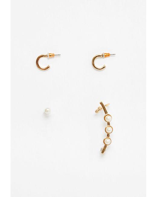 Missguided | Metallic Gold Pearl Detail Ear Cuff Set | Lyst
