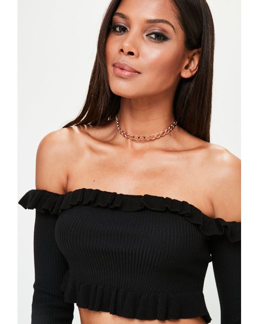 Missguided | Rose Gold Metallic Choker Necklace | Lyst