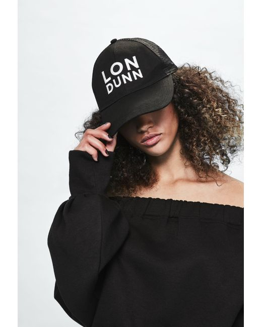 Missguided | Londunn + Black Mesh Back Logo Cap | Lyst