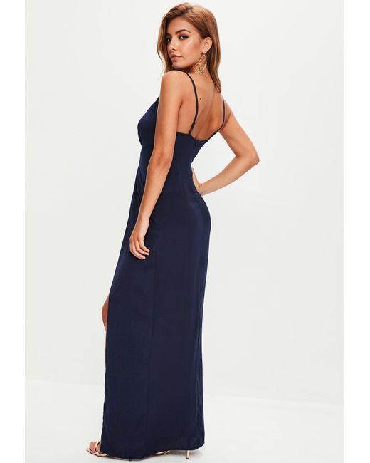 Save e couture plunge maxi dress