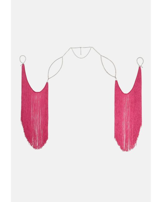 Missguided - Pink Festival Tassel Wings - Lyst
