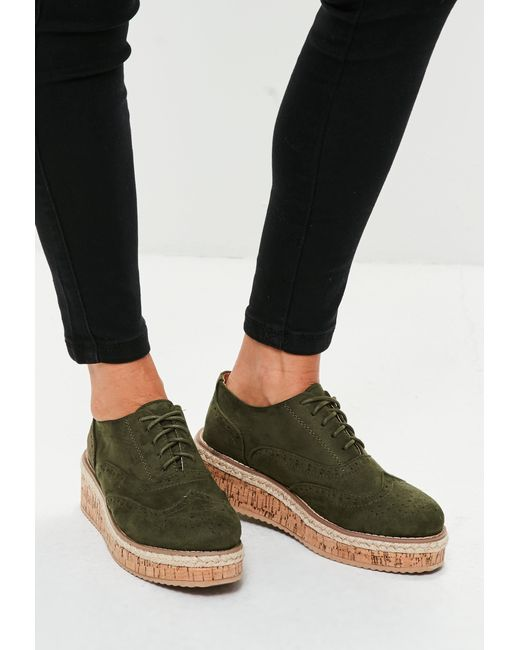 Missguided | Multicolor Khaki Lace Up Shoes for Men | Lyst