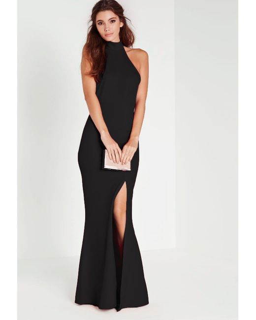 Lyst Missguided Petite Black Racer Back Maxi Dress In Black