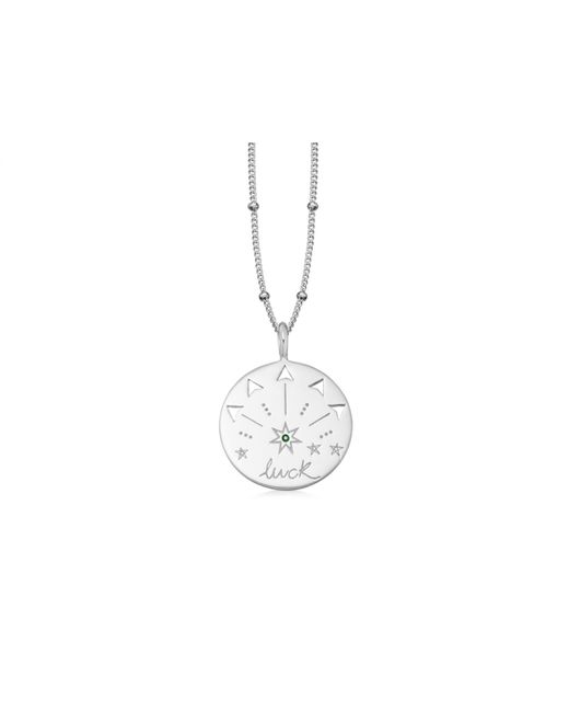 Missoma - Metallic Silver Luck Talisman Necklace - Lyst