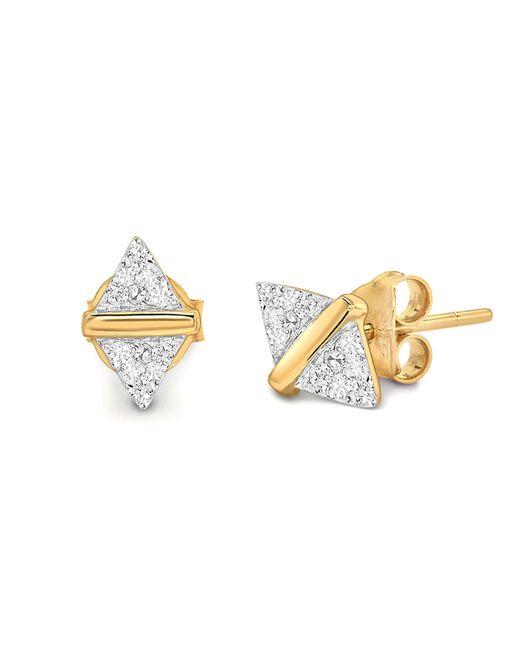Missoma - Metallic Pave Double Arrow Stud Earrings - Lyst
