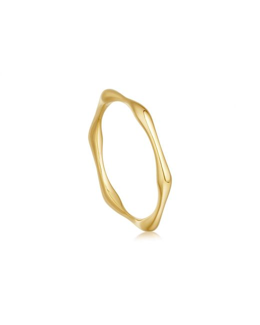 Missoma - Metallic Gold Thin Molten Ring - Lyst