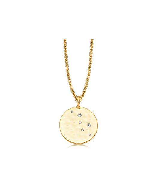 Missoma - Metallic Gold Pave Hammered Disc Necklace - Lyst