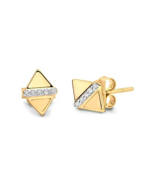 Missoma | Metallic Pave Center Double Arrow Stud Earrings | Lyst