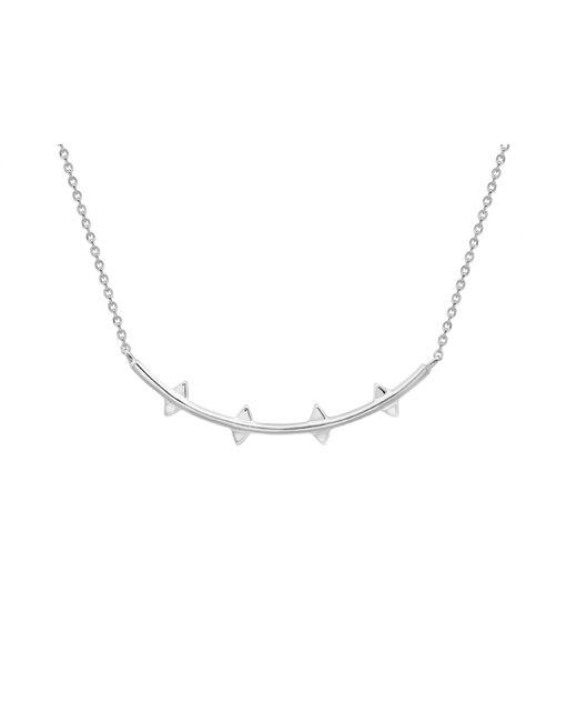 Missoma | Metallic Silver Double Arrow Necklace | Lyst