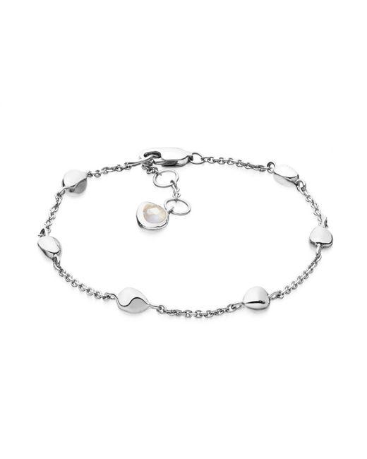 Missoma - Metallic Silver Nugget Bracelet - Lyst