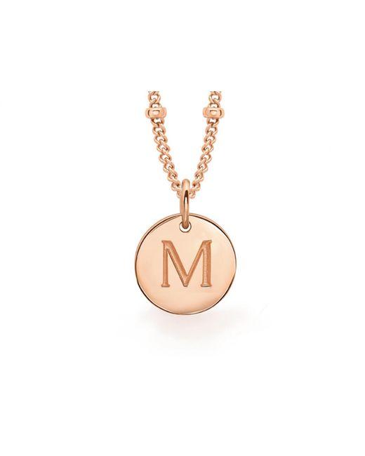 Missoma - Metallic Rose Gold M Initial Necklace - Lyst