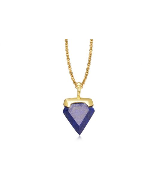 Missoma - Multicolor Lapis Mini Shield Necklace - Lyst