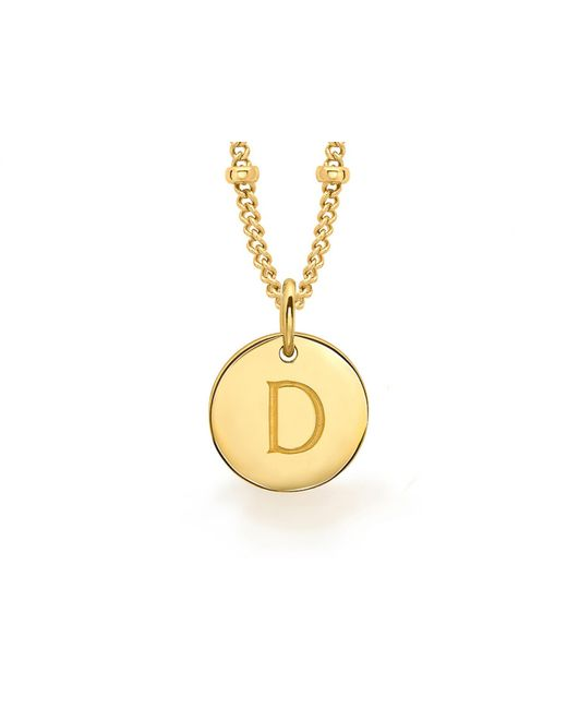 Missoma | Metallic Gold 'd' Initial Necklace | Lyst