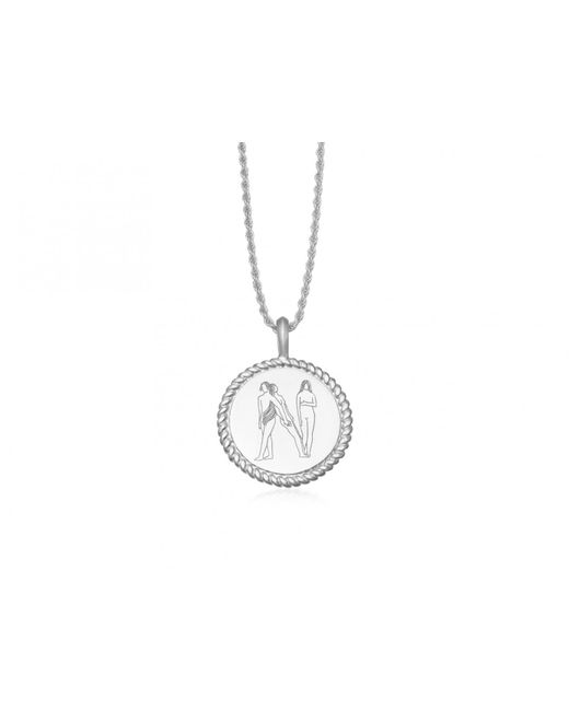 Missoma - Metallic Silver Body Language N Initial Necklace By Fee Greening - Lyst