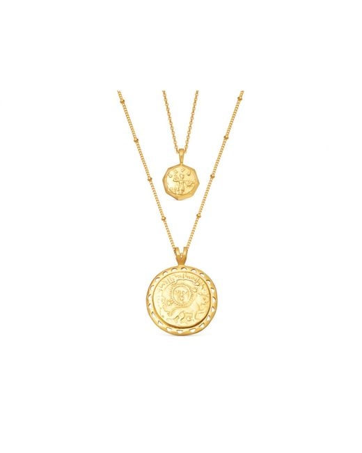 Missoma Multicolor Gold Ode To Rome Necklace Set