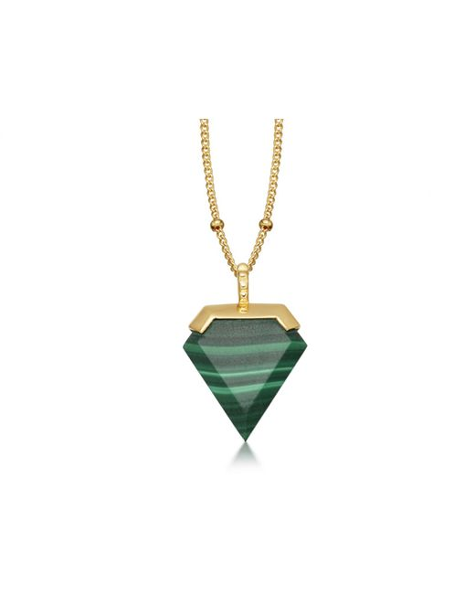 Missoma - Green Malachite Shield Necklace - Lyst