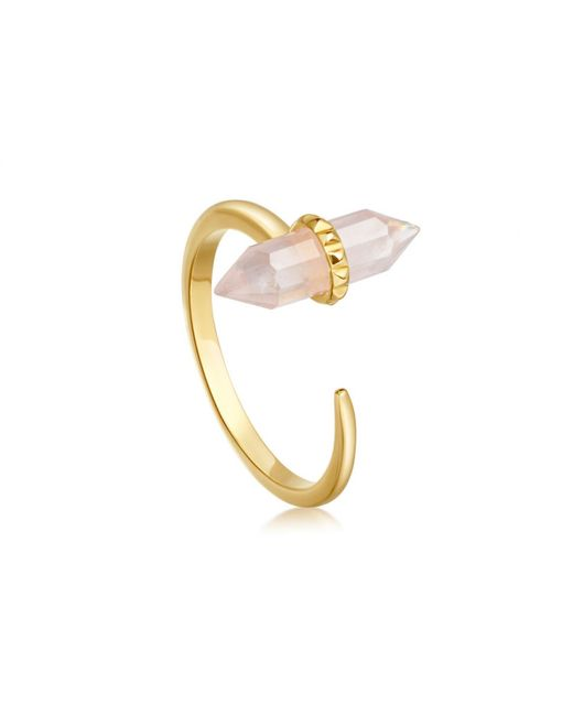 Missoma - Metallic Rose Quartz Single Wand Ring - Lyst