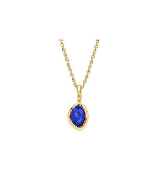 Missoma | Metallic Gold September Lapis Charm Necklace | Lyst