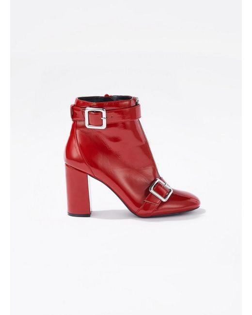 Miss Selfridge - Black Alyssa Patent Zip Ankle Boots - Lyst