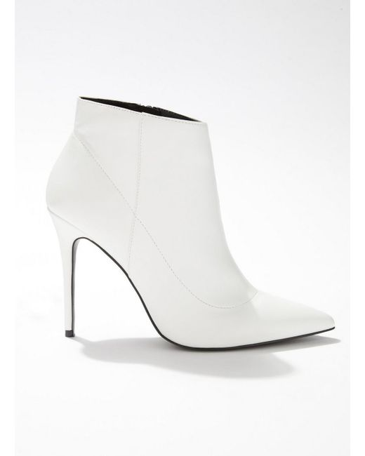 Miss Selfridge - White Ailise Pointed Stiletto Boots - Lyst