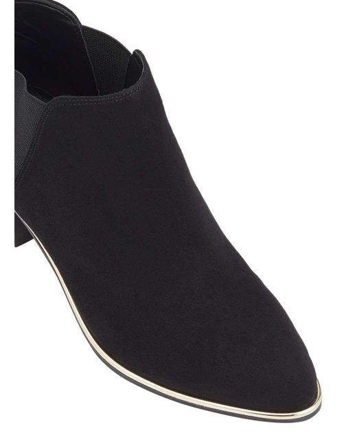 Miss Selfridge | Darah Black Point Rand Ankle Boots | Lyst