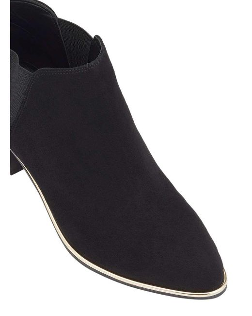 Miss Selfridge | Darah Black Point Rand Ankle Boots | Lyst