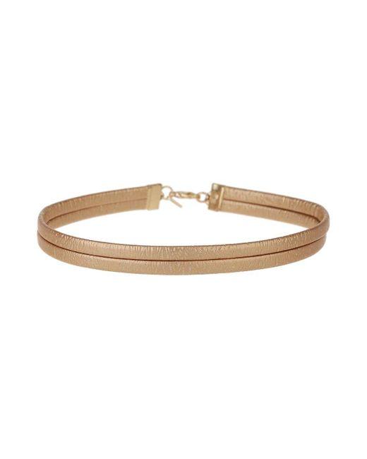 Miss Selfridge | Metallic Gold Pu Leather Choker | Lyst