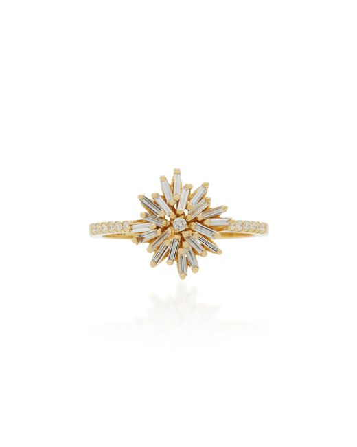 Suzanne Kalan - Yellow 18k Gold Diamond Ring - Lyst