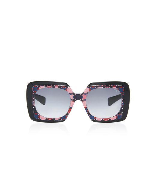 Geometric Square-Frame Acetate Sunglasses Emilio Pucci 554KdLr