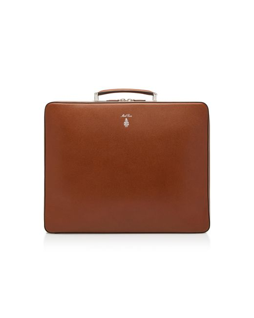 Mark Cross - Brown Baker Textured-leather Briefcase - Lyst