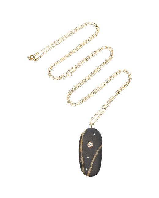 Cvc Stones - Black Climb 18k Gold, Stone And Diamond Necklace - Lyst