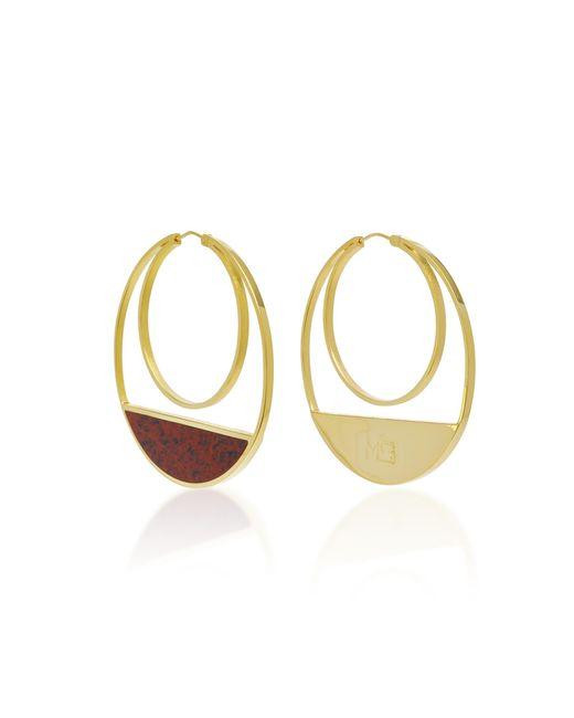 Monica Sordo | Metallic Callao Maxi Loops 21k Gold-plated Earrings | Lyst
